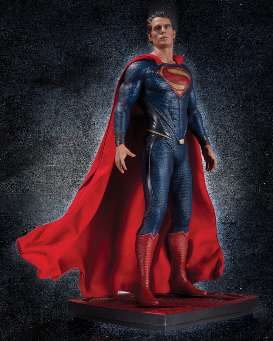 Tags costume ... & New Superman Man Of Steel Statue Shows Off Henry Cavillu0027s Costume