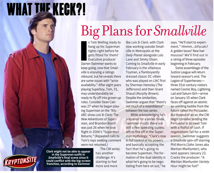 tv guide smallville december 2008